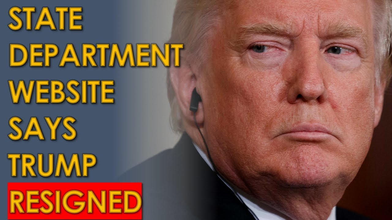 Did the State Department Website Say Trump's Term Ended on Jan ...