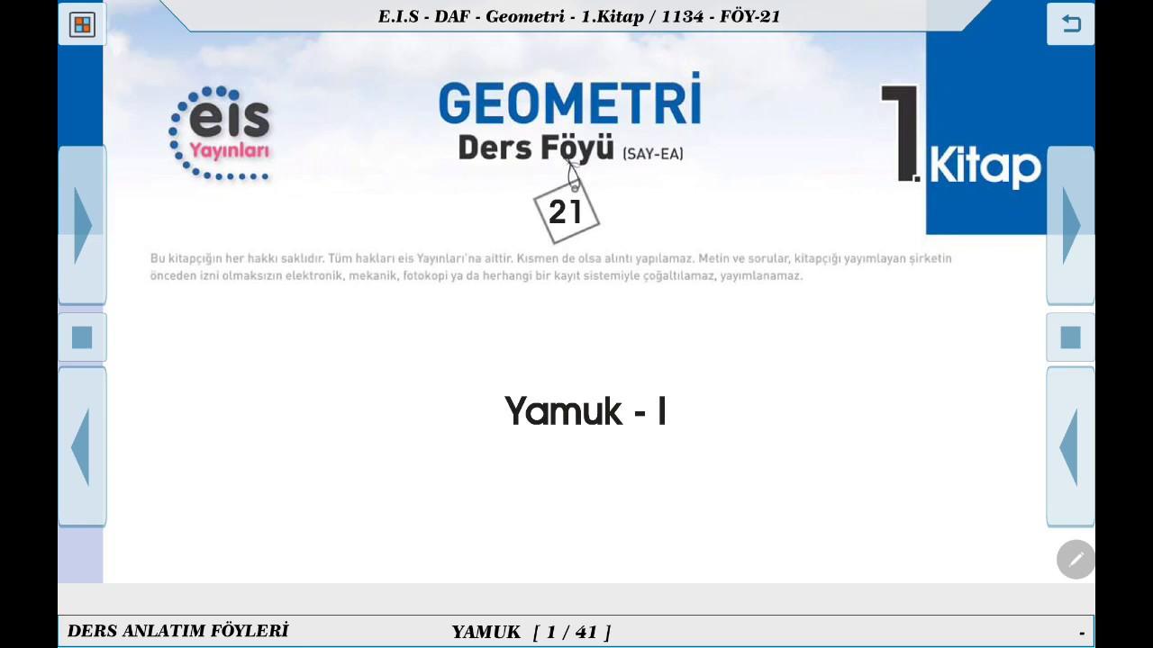 Geometri 1  - Yamuk 1  📘