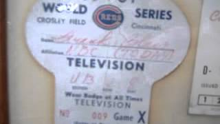 1961 cincinnati REDS crosley field PASS ticket  world series REPORTER BADGE 001.MOV