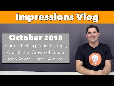Impressions October '18 - Blackout: Hong Kong, Azul: Sintra, and 17 more!