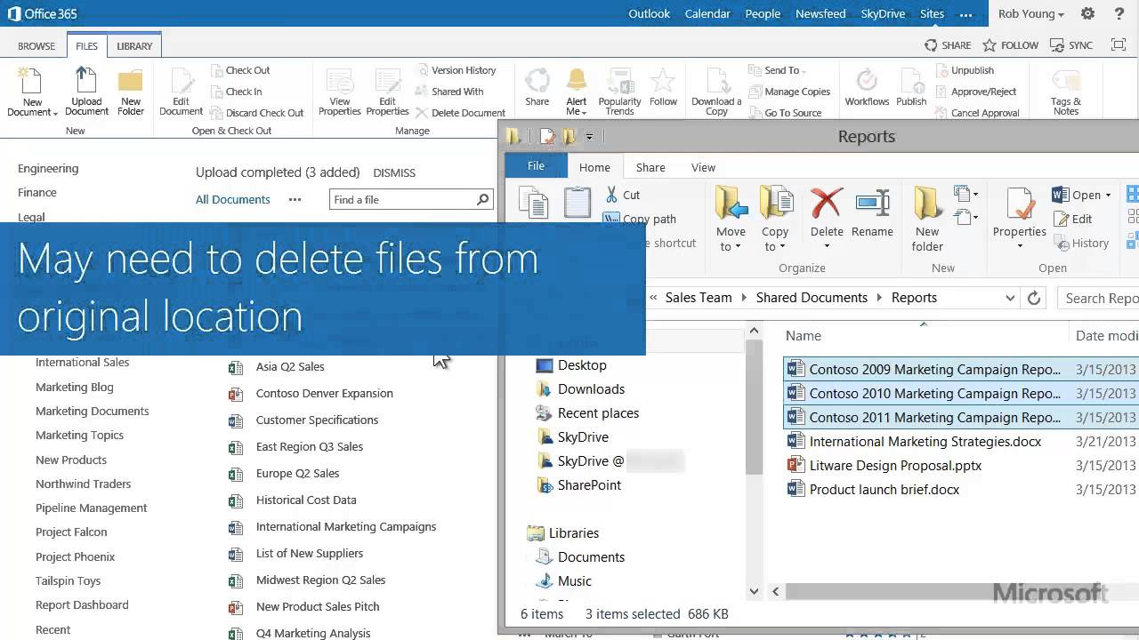 Copy or move sharepoint 2013 documents by using open with for Download document link sharepoint
