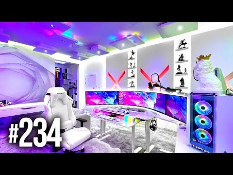 Room Tour Project 234  - BEST Desk & Gaming Setups!