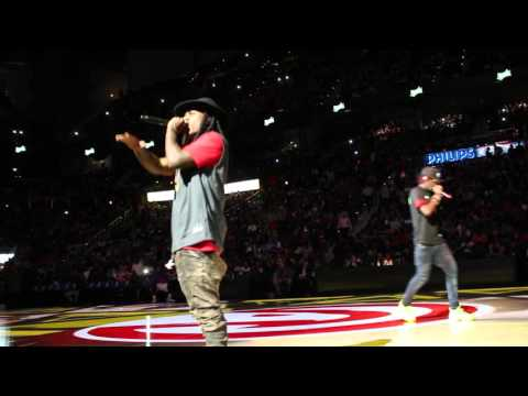 Rich Homie Quan And Jacquees 'Come Thru' Atlanta Hawks Opening Night