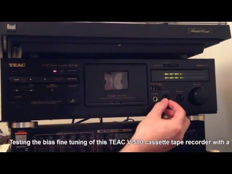 TEAC V-510 Cassette Tape Recorder - Bias Adjustment Test