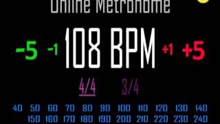 Metronomo Online - Online Metronome - 108 BPM 4/4