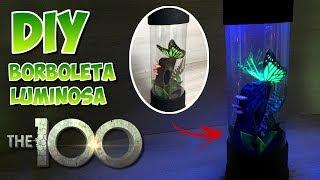 Terrário Luminária com  Borboleta - The 100 DIY