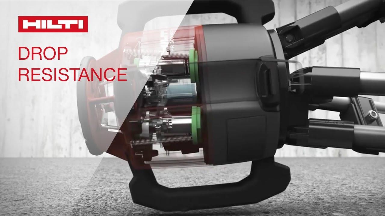 Demo Of Hilti Rotating Laser Levels Drop Resistance