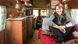 Female Student Lives VAN LIFE to save on Rent Money. (Van Tour)
