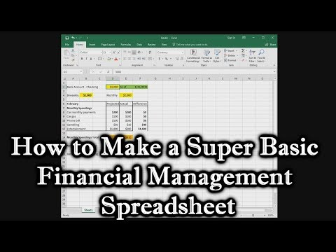 How to Make a Super Basic Financial Management Spreadsheet