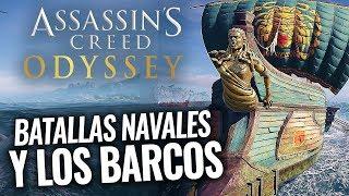 Assassin's Creed Odyssey | Todo sobre los BARCOS y BATALLAS NAVALES (Personalización y Consejos)