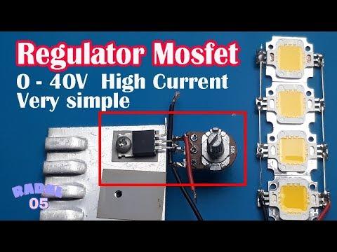 Simple Regulator Mosfet High Current Ide kreatif DIY Rangkaian Penurun Tegangan 24V, 12V, 5V, 3.3V