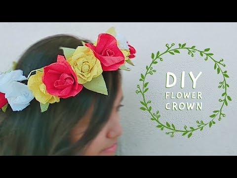 DIY FLOWER CROWN/BAND | How to do a flower crown [DIYCA]