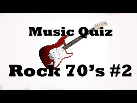 Music Quiz - Rock 70's #2