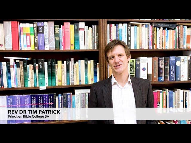 Studying at BCSA  I  Rev Dr Tim Patrick