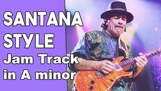 Carlos Santana Style backing Track in Am