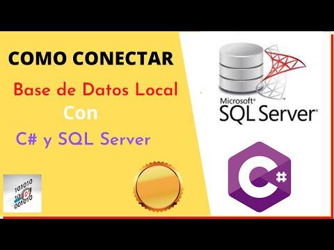 Configurar base de datos local sql server