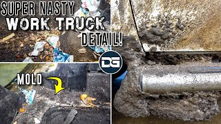 Deep Cleaning a DISASTER Work Truck!! | Super Nasty Car Detailing and INSANE Transformation!