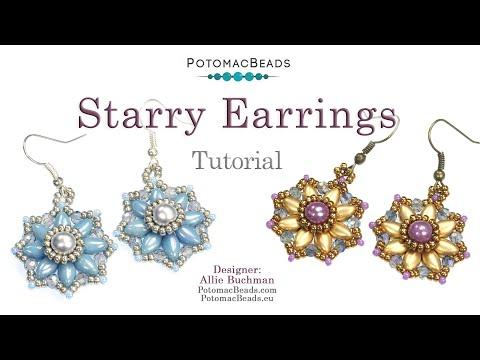 Starry Earrings (Jewelry-Making Tutorial)