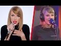 Taylor Swift - Studio vs Live