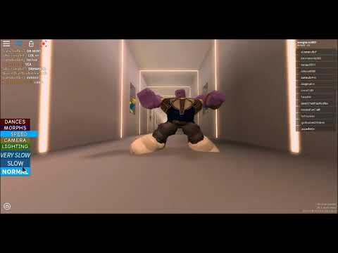 Dancing Thanos Caught Doing Orange Justice In Roblox Youtube