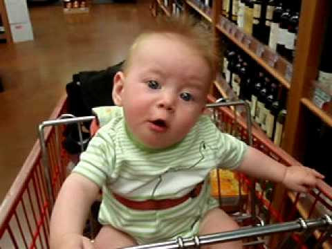 Calan, 27 weeks in the shopping trolley.