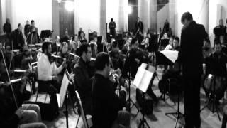 Ensayo con la Orquesta Sinfónica de Durango. Nortec
