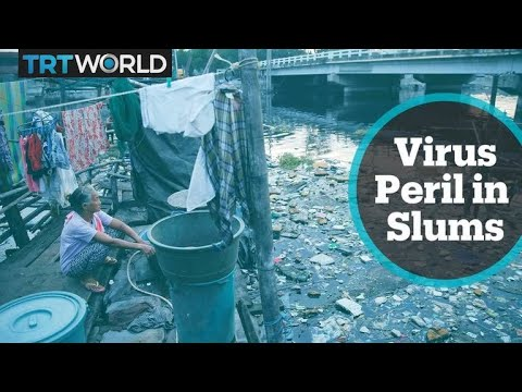 Philippines slum residents struggle with social distancing