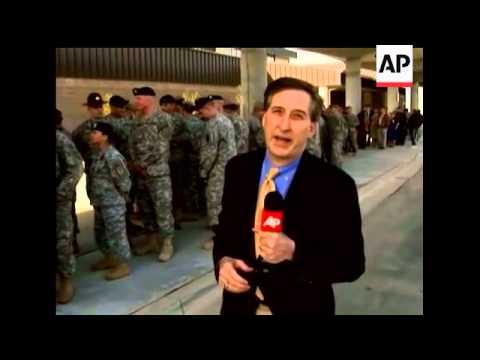 AP White House correspondent Mark Smith travels to Ft. Benning, GA to promote his plan to increase t