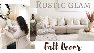 LIVING ROOM FALL DECOR | DECORATE WITH ME | FALL 2019