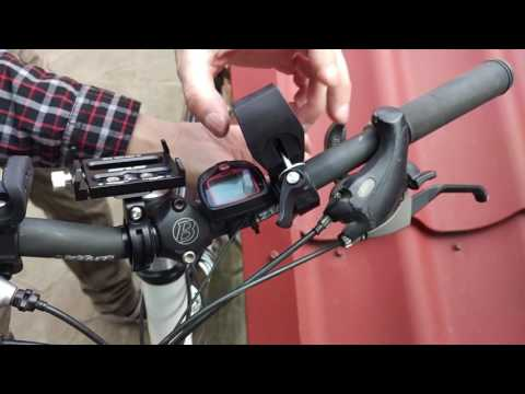 Bicycle Flashlight Mount Installation
