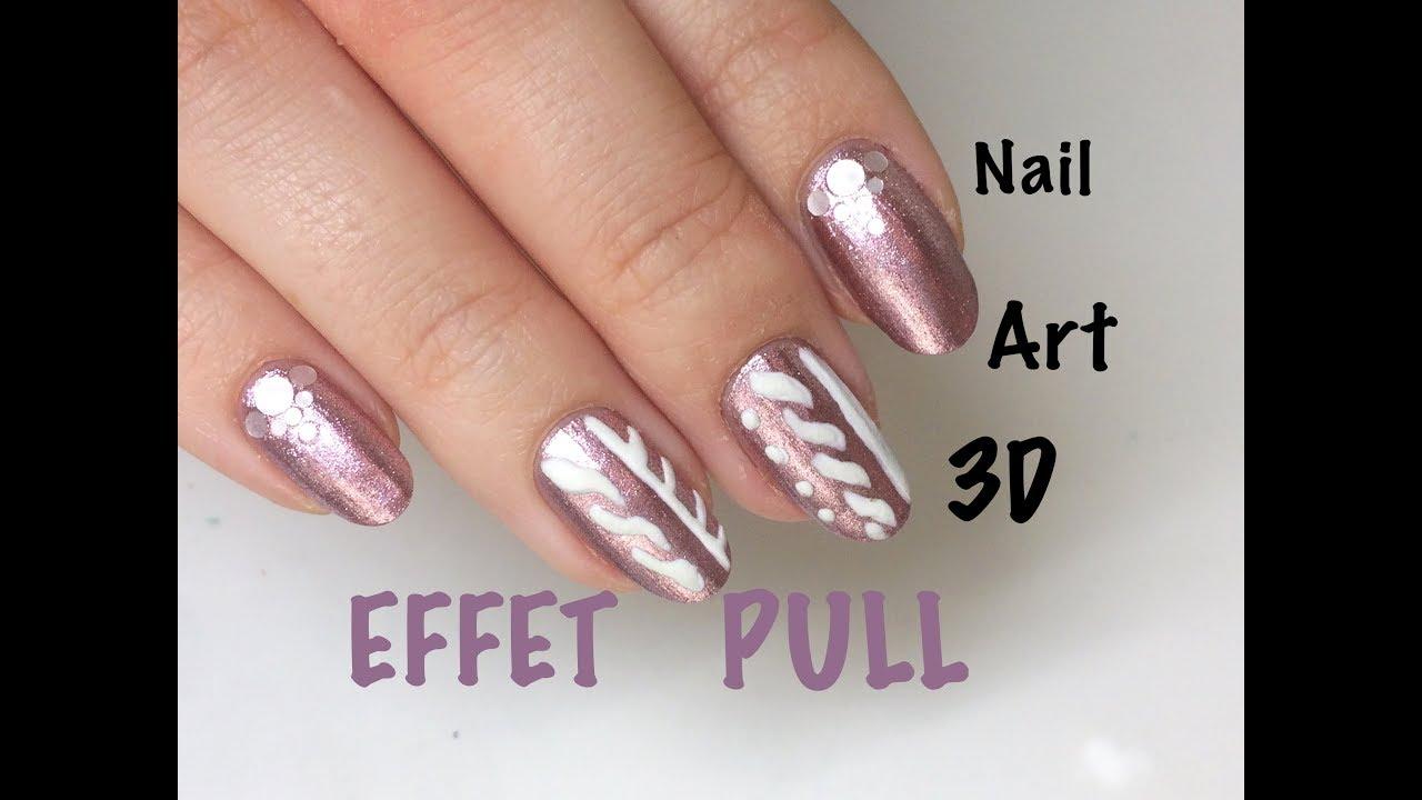 Tuto nail art effet pull en 3D
