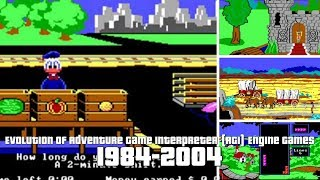 Evolution of Adventure Game Interpreter Engine Games 1984-2004