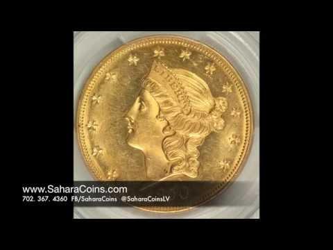 1850 20 Double Eagle Gold Coin Rare Gold Coins Sahara Coins Youtube