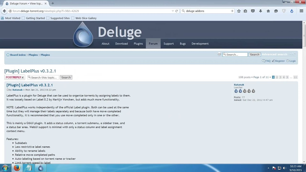 How to install deluge and recommended settings