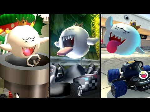 Evolution Of King Boo In Mario Kart (2003-2019)