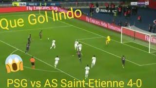 PSG x Saint-Etienne 4-0 melhores momentos e gols 2018