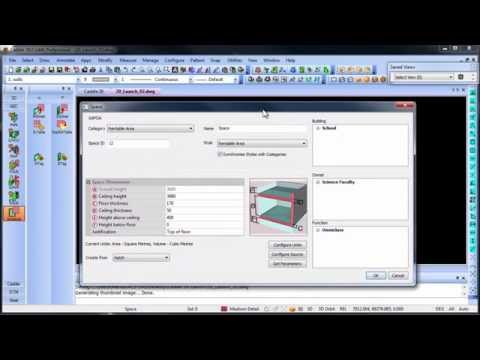 Space Planning and Scheduling in Caddie AEC Architecture .dwg software