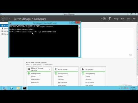 Windows Server 2012 Product Key Activation