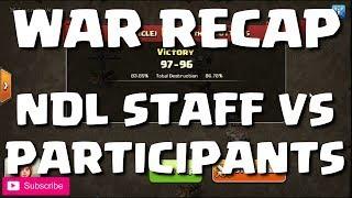 WAR RECAP - NO DIP LEAGUE STAFF vs PARTICIPANTS (VERY CLOSE) | Clash of Clans