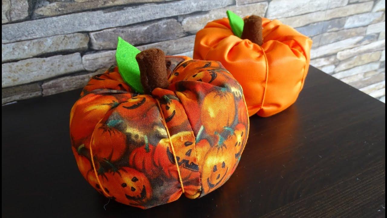 DaIsY´s DIY - Kürbis für Halloween nähen - YouTube