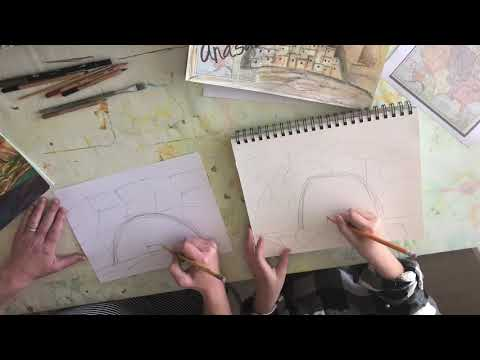 drawing an anasazi village