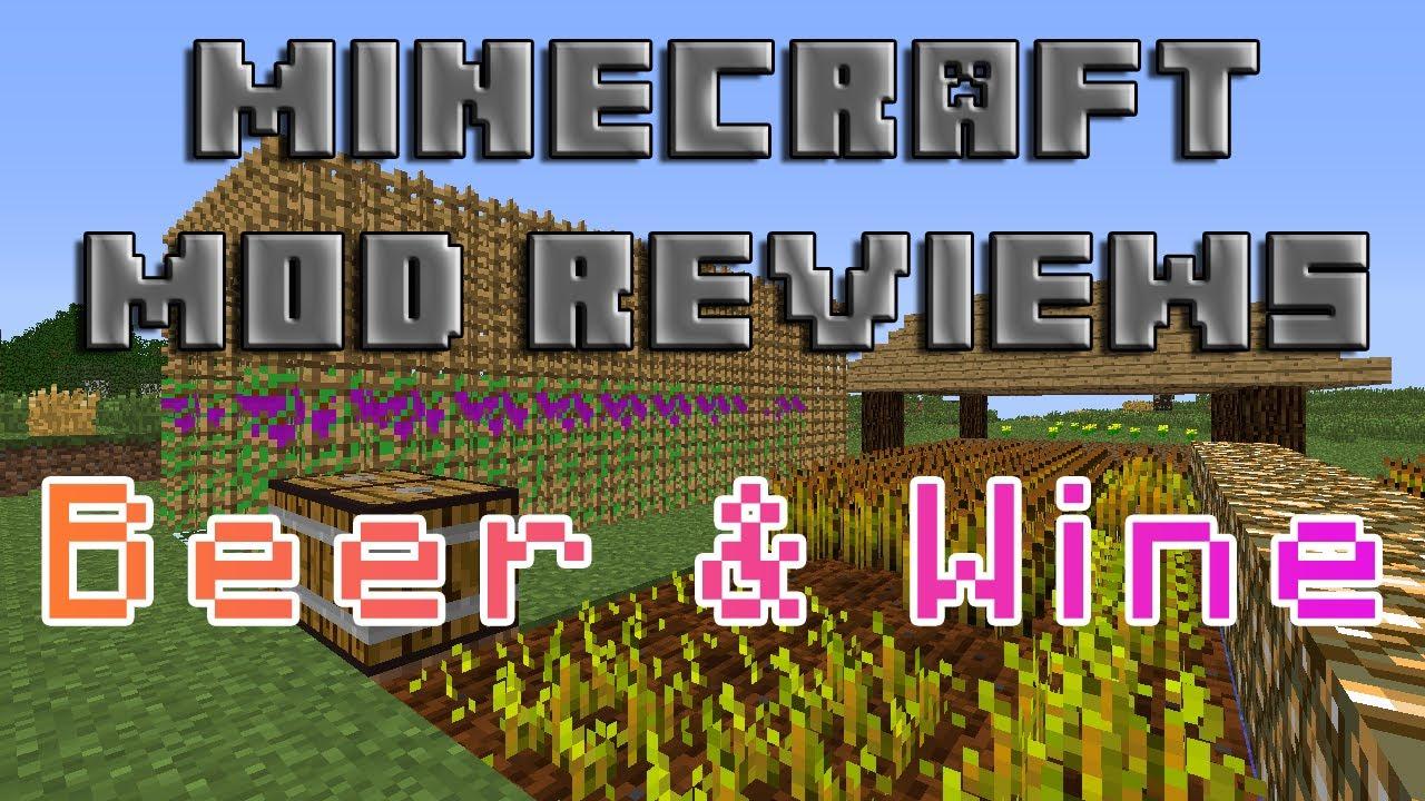 Minecraft Mod Reviews: Beer & Wine! (HD)