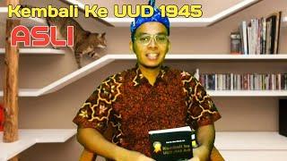 Gambar cover Riview Buku Kembali ke UUD 1945 ASLI   Prof. Idrus Affandi, SH