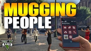 Video GTA 5 Online - MUGGING PEOPLE #8 (GTA 5 Online Mugger Trolling) download MP3, 3GP, MP4, WEBM, AVI, FLV November 2017