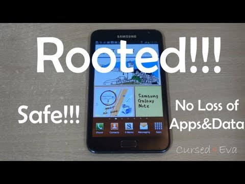 How to Root the Galaxy Note (Safest & Latest) (N7000 - ICS Only) - Cursed4Eva