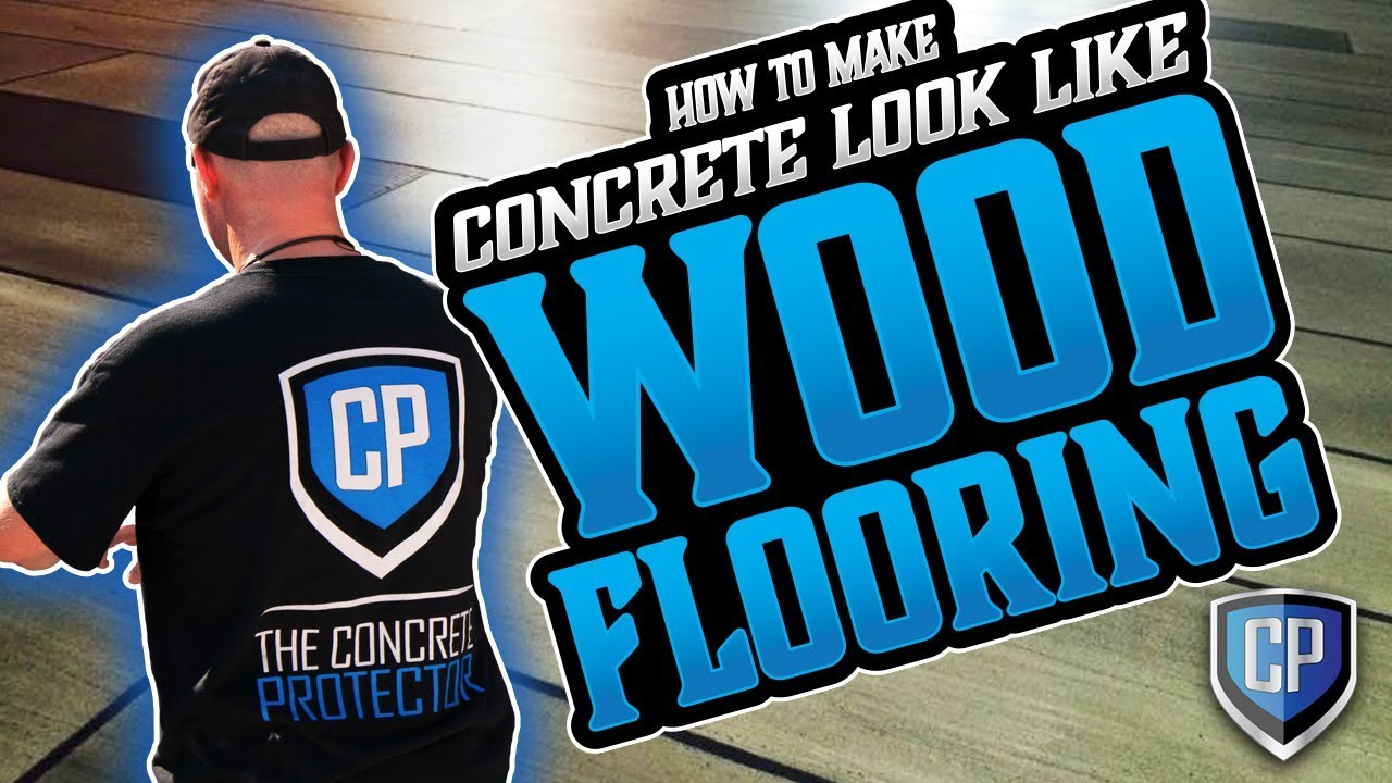 Wood Concrete   How To Make Concrete Look Like Wood Flooring   YouTube