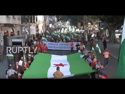 Spain: Andalusian protesters demand greater sovereignty at rally in Malaga
