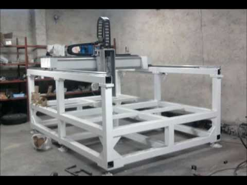 Homemade cnc router youtube for Home built router