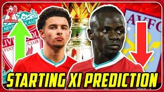 MANE OUT, JONES IN! Liverpool vs Aston Villa Starting XI Prediction