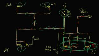 Voltage drop testing a parking light/turn signal circuit (Part 2)
